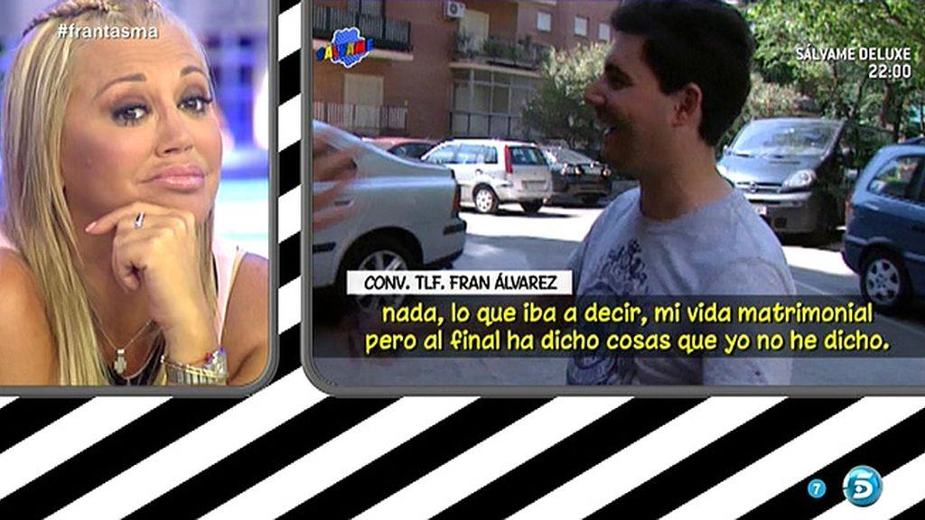 """Fran Álvarez niega haber dicho que cuando se casó con Belén """"el coche estaba gripado"""""""