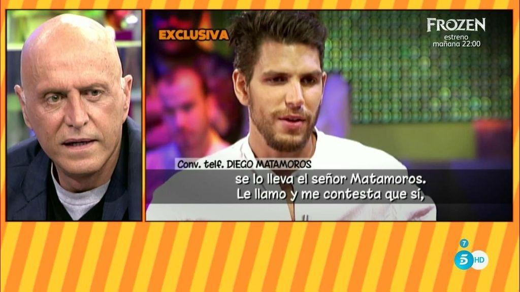 """Diego Matamoros, de su padre: """"Estoy pagando yo la deuda que tiene con Toño"""""""