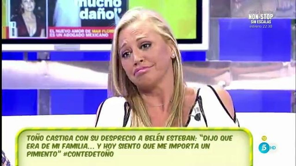 """Belén contesta a la entrevista de Toño: """"Quiero lo que es mío, su perdón me sobra"""""""