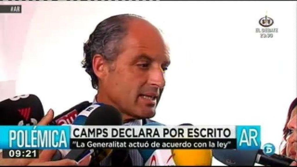 """Camps: """"La Generalitat siempre ha actuado bajo el imperio de la ley y buscando el interés general"""""""