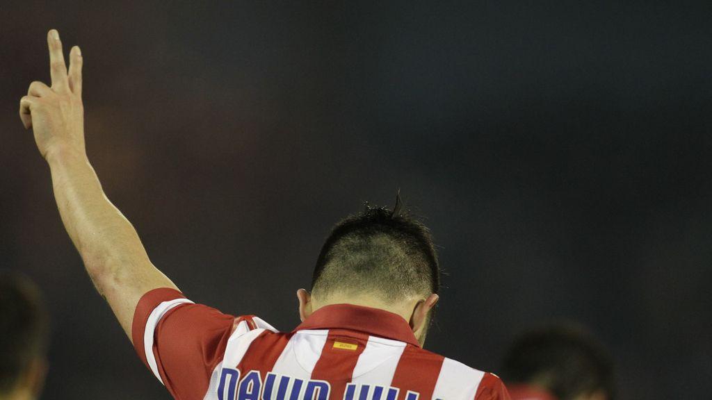 David Villa se reivindica en el Atleti con doblete frente al Celta de Vigo