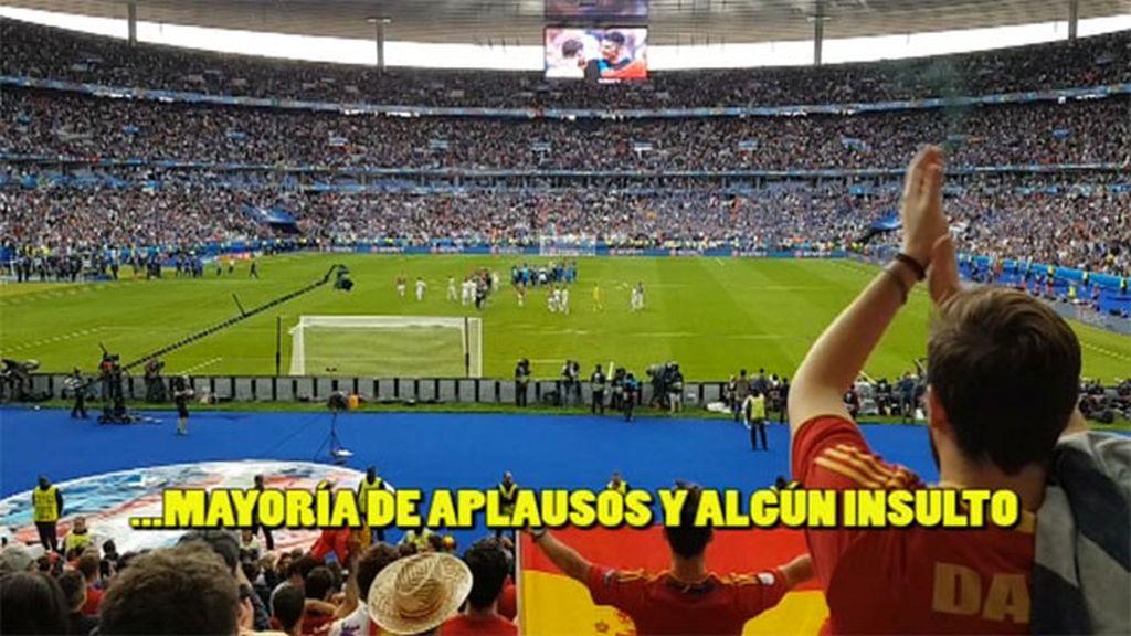 La Selección española se despide de la Eurocopa entre aplausos… y algún insulto