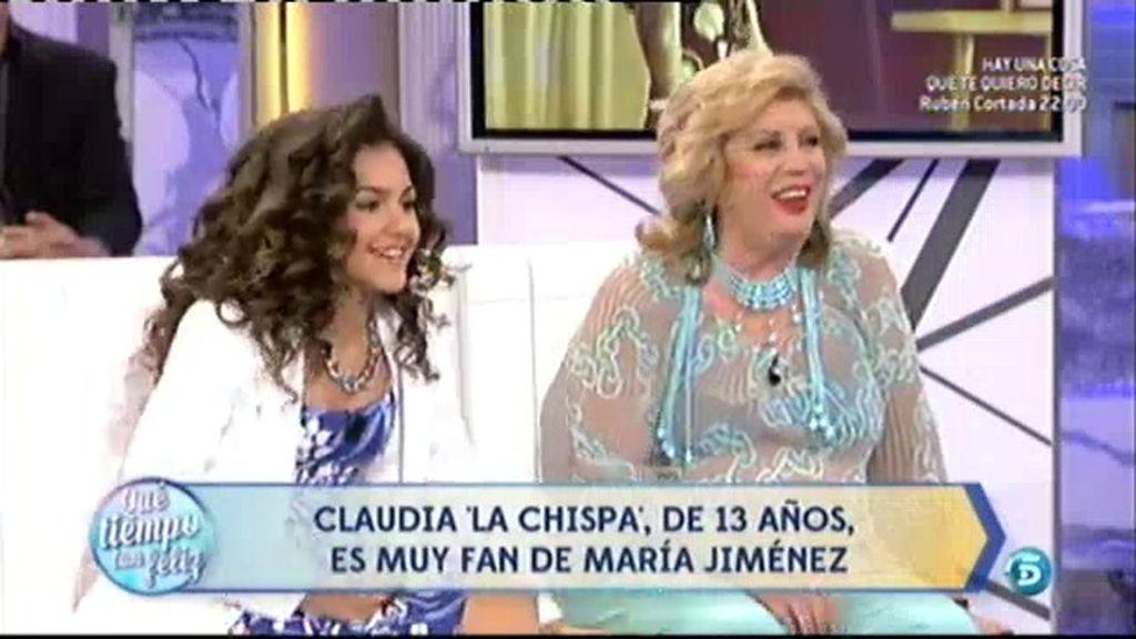 Claudia 'La Chispa', fan de María Jiménez