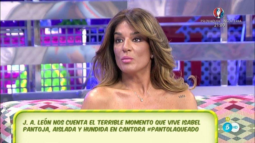 """Raquel Bollo, sobre I. Pantoja: """"Por voluntad propia quiere estar al lado de su madre"""""""