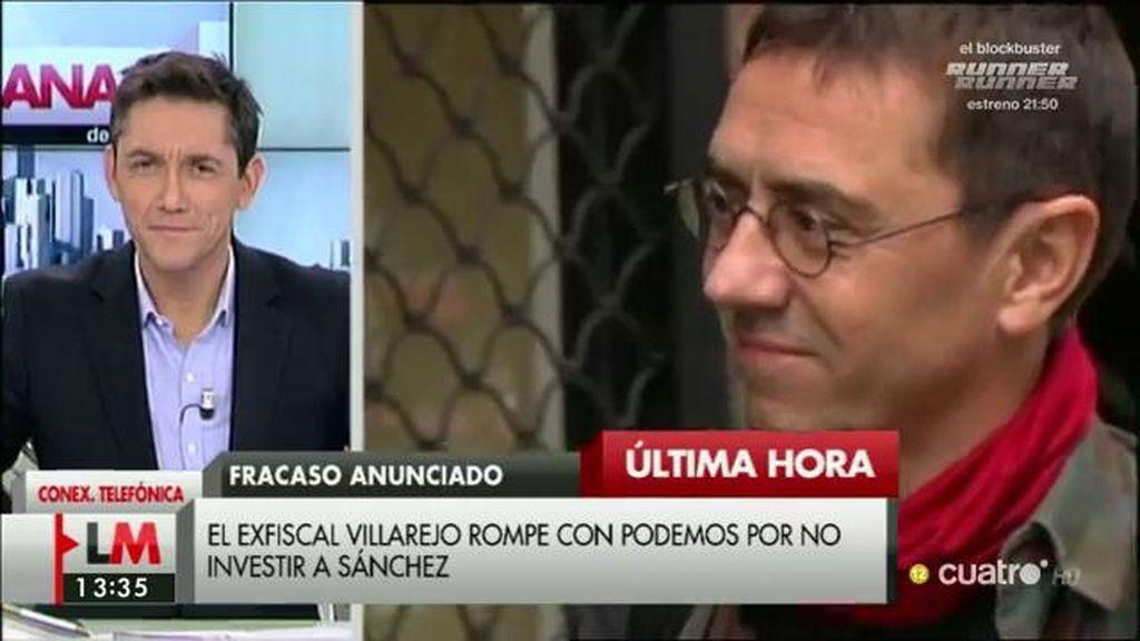 """Juan Carlos Monedero: """"A mí no me consta que haya división interna en Podemos"""""""