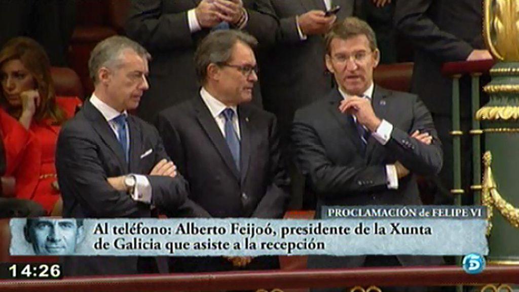 """Núñez Feijóo: """"Creo que el discurso del Rey es impecable en el contenido y la forma"""""""