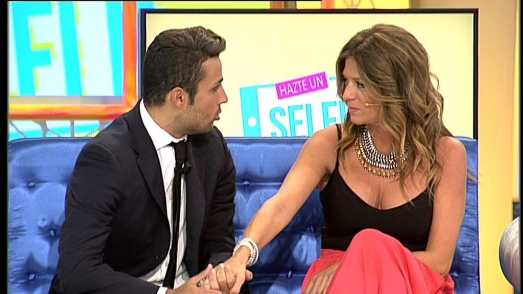 David le declara su amor públicamente a Sandra, casi 20 años mayor que él