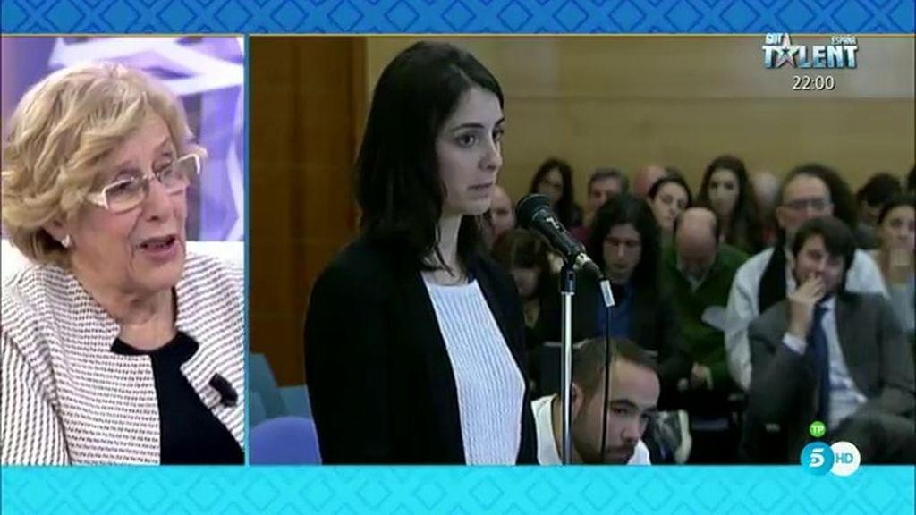 """Carmena: """"Rita Maestre es una joven excelente, va a dar mucho a esta sociedad"""""""