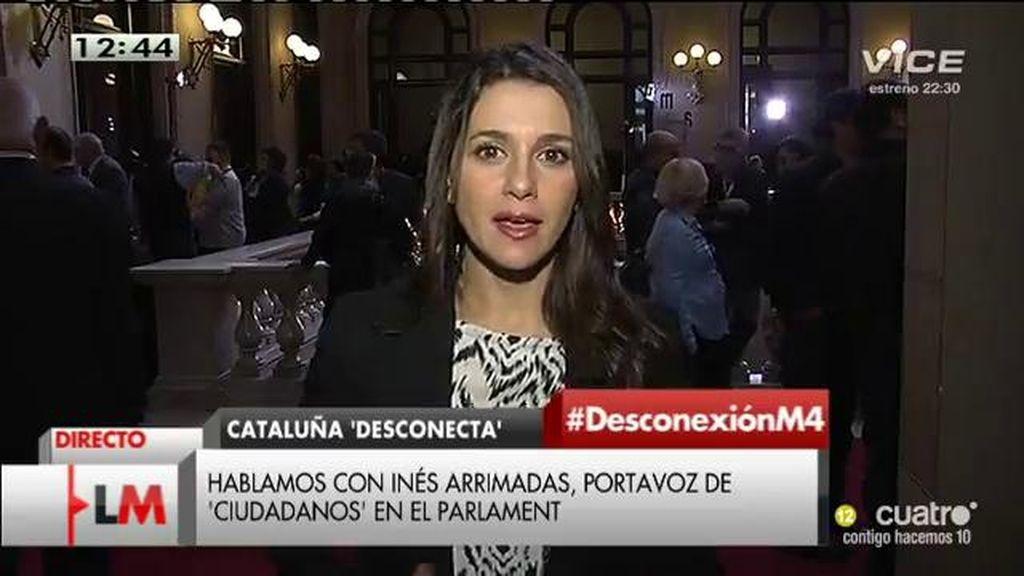 """Inés Arrimadas: """"Utilizaremos todos los mecanismos contra el desafío a la democracia"""""""