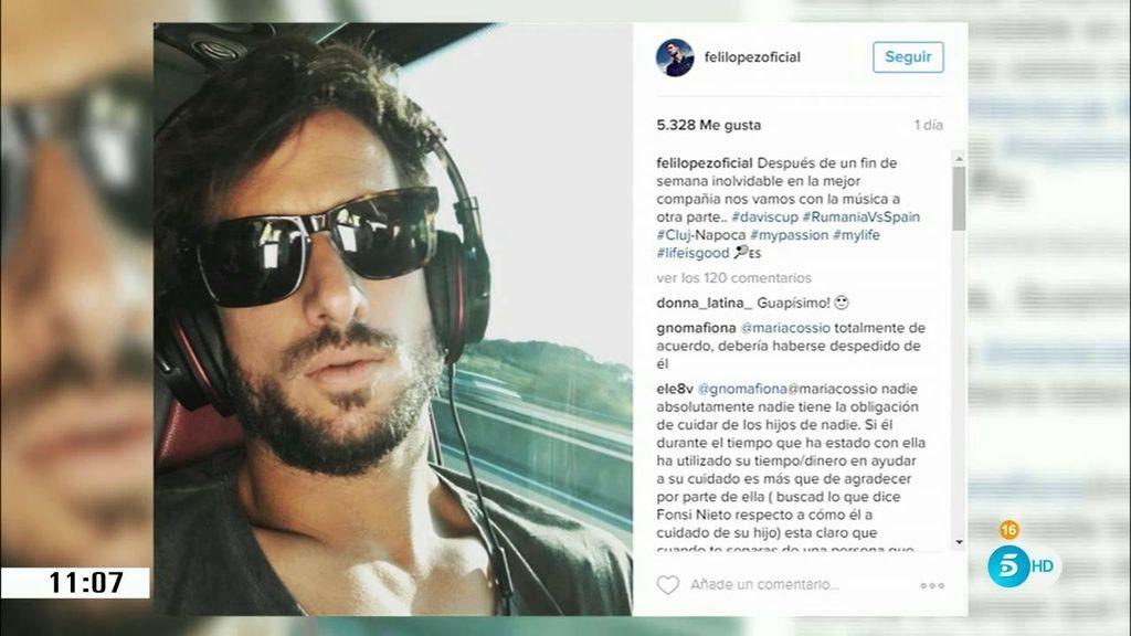 """La madre de Alba llama """"mentiroso"""" a Feliciano en las redes sociales"""