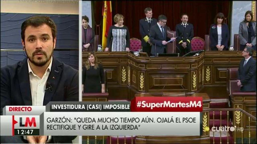 """Alberto Garzón: """"Hay tiempo para que el PSOE rectifique"""""""