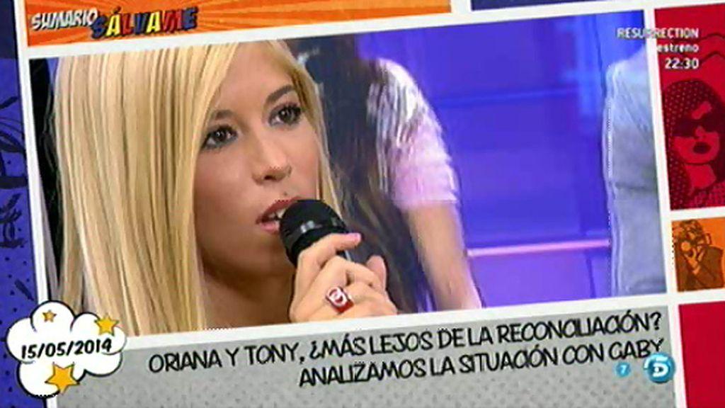 """Gaby afirma que Tony y Oriana solo dicen """"una mentira tras otra"""""""
