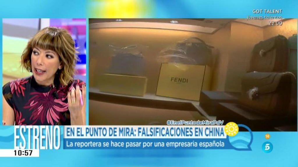 """María Bayón: """"En las falsificaciones en China, es todo a la carta, las haces como quieras"""""""