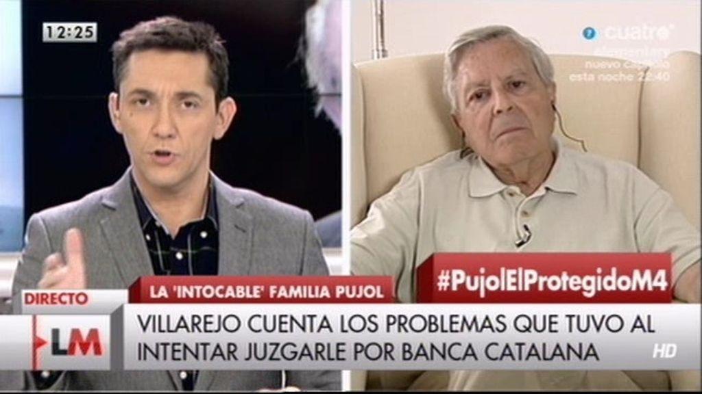 """Jiménez Villarejo: """"A Pujol se le ha protegido y se le sigue protegiendo"""""""