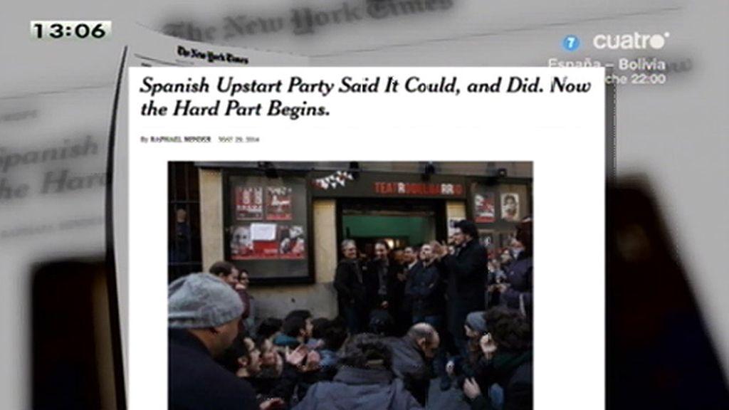 The New York aborda la irrupción de P. Iglesias y Podemos en las europeas