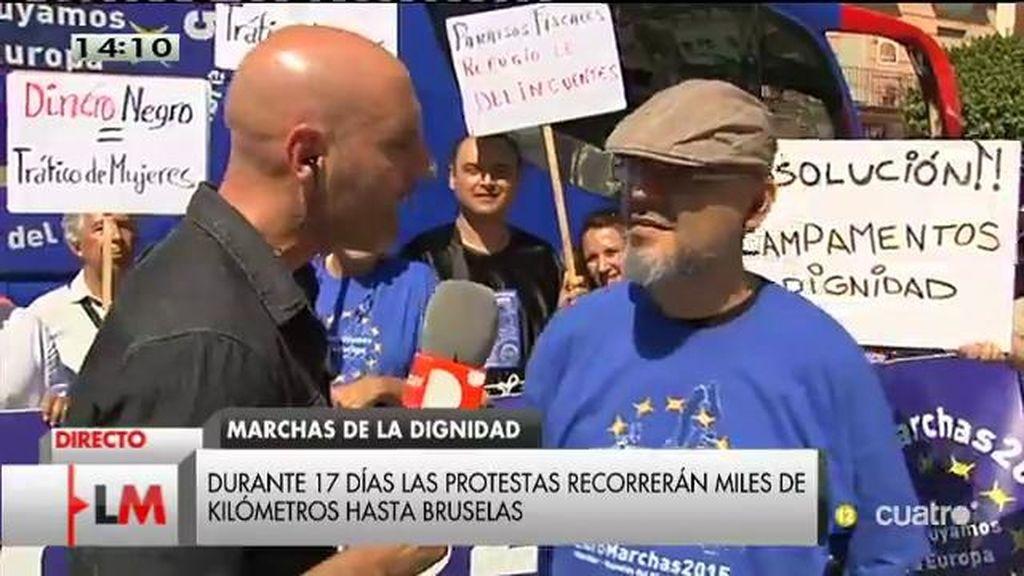 Las marchas de la dignidad emprenden camino hacia Bruselas