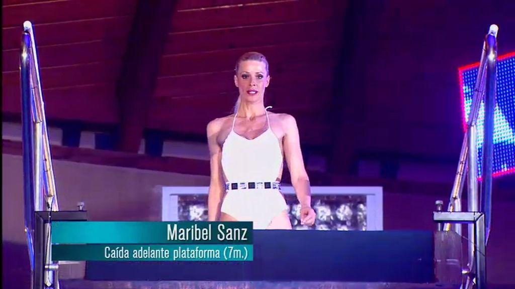 Maribel Sanz: caída adelante desde la plataforma de 7 metros