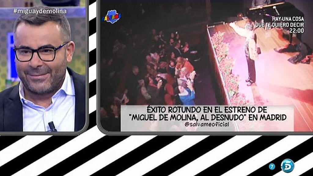 Jorge Javier Vázquez estrena 'Miguel de Molina al desnudo' en Madrid
