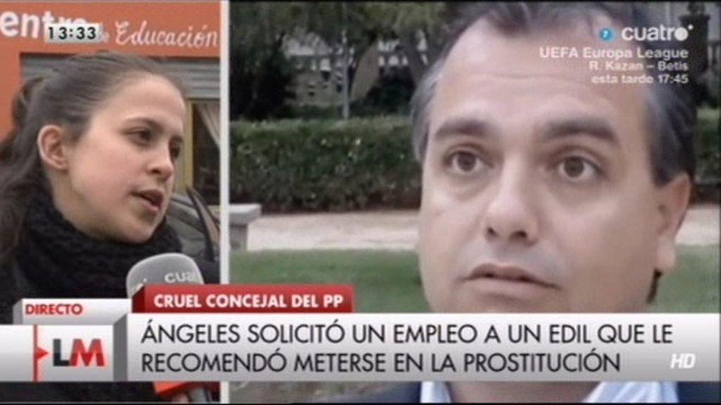 """Ángeles: """"No voy a retirar mi denuncia y seguiré hasta que despidan al concejal"""""""