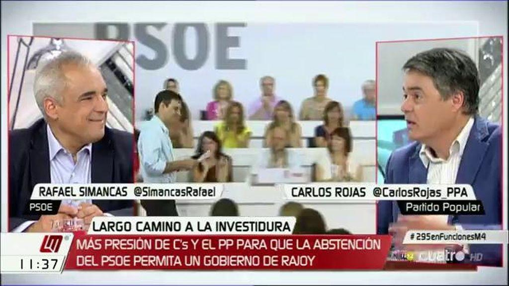 """Carlos Rojas, a Simancas: """"La abstención no os va a quitar nada, os dará credibilidad"""""""