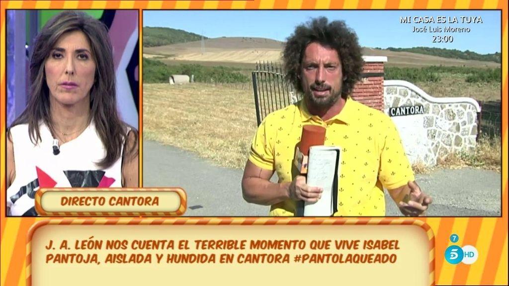 """J.A. León: """"Isabel Pantoja está aislada"""""""