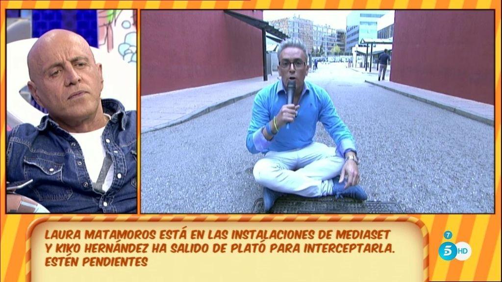 La persecución de Kiko Hernández a Laura Matamoros por todo Telecinco