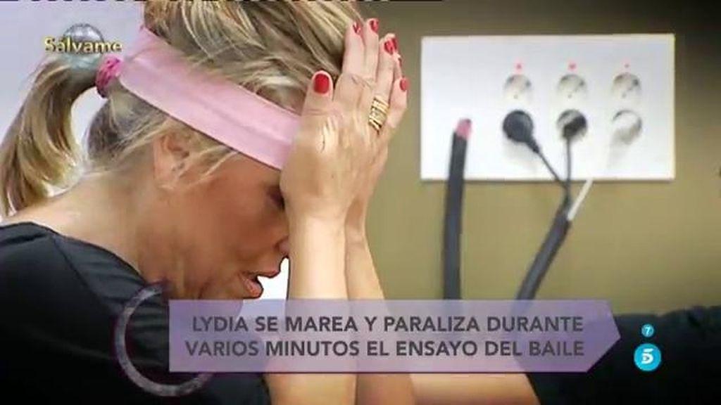 Lydia Lozano se marea durante su primera clase con el bailarín Pol Chamorro