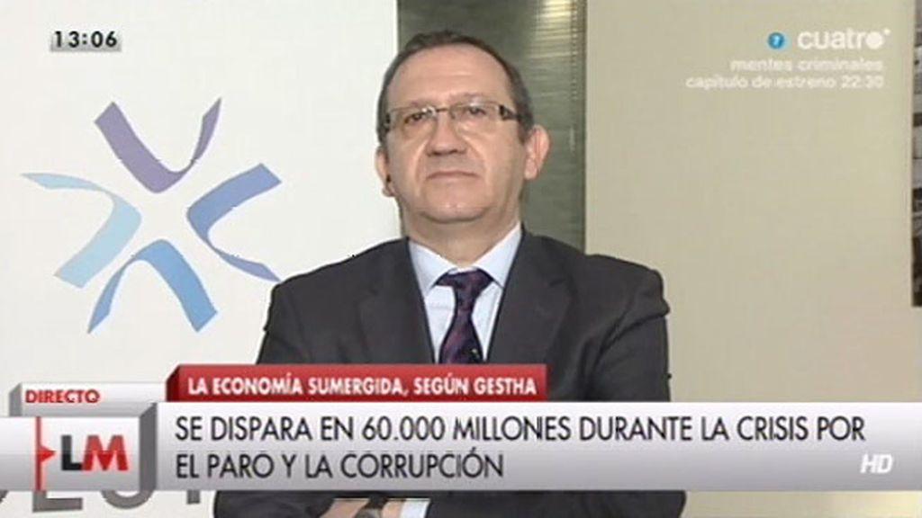"""Carlos Cruzado: """"La economía sumergida alcanza casi una cuarta parte del PIB"""""""