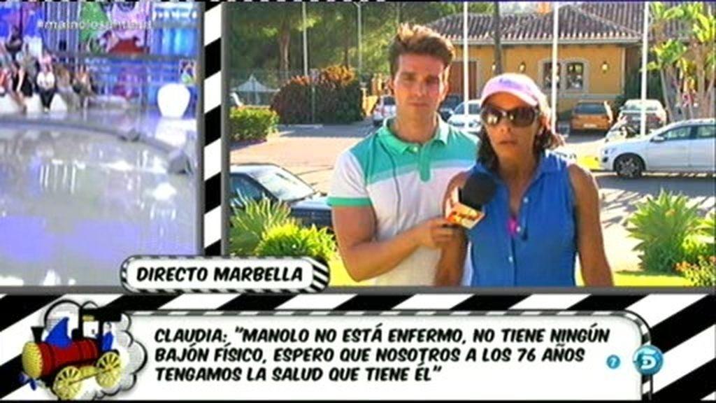 "Claudia: ""Manolo Santana no está enfermo"""