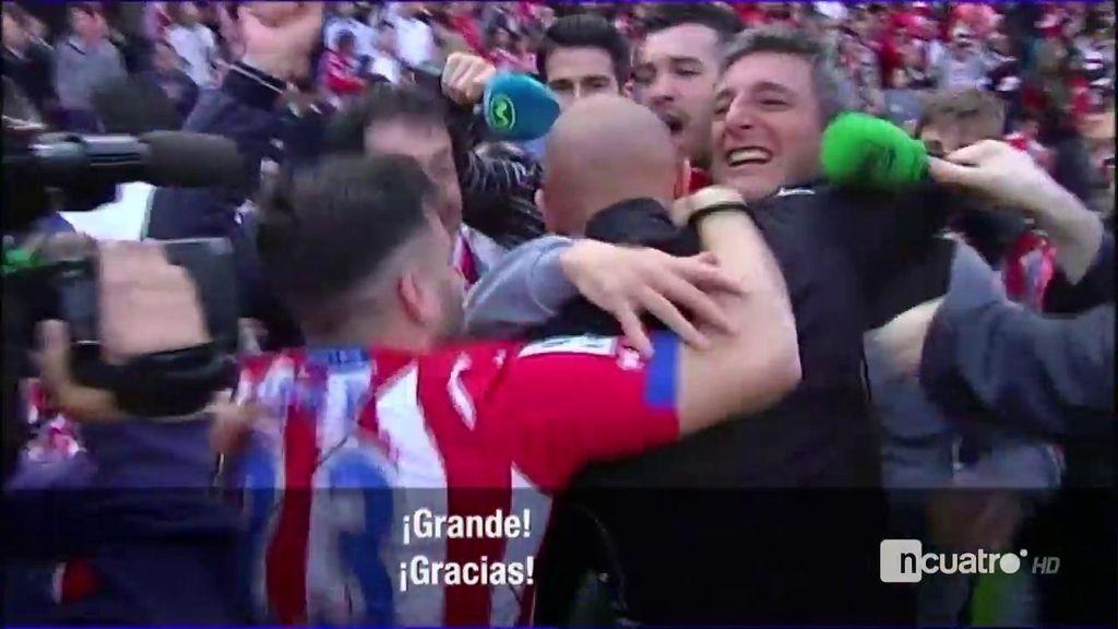 Abelardo estalla de alegría con el pitido final y la derrota del Getafe ante el Betis