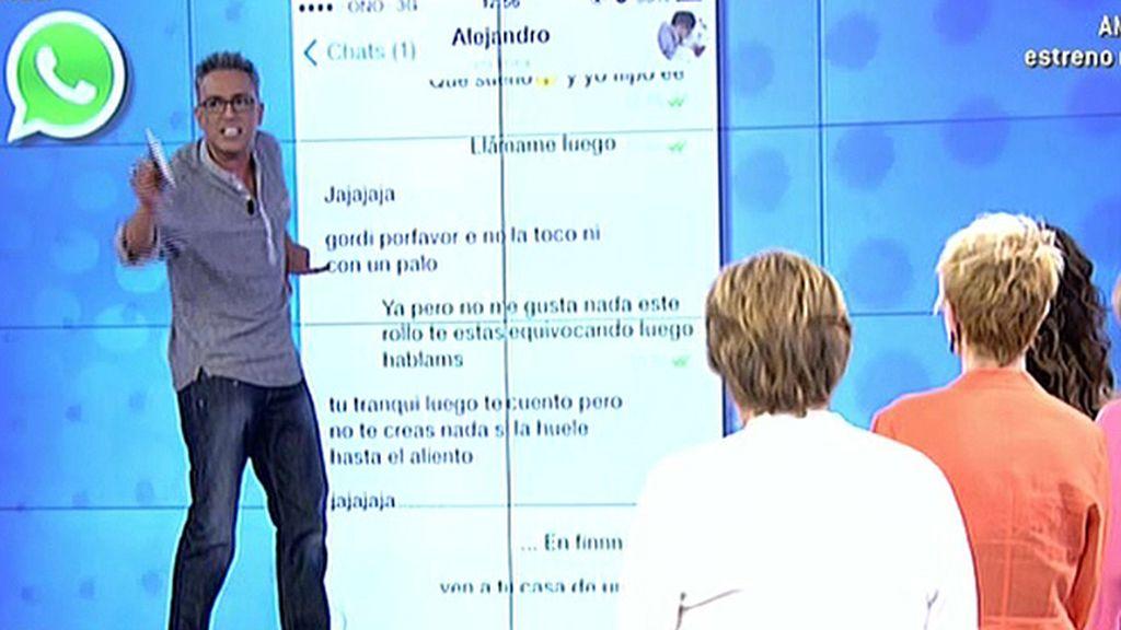 """Kiko H. muestra las pruebas: """"Alejandro mantuvo un doble juego con Chabelita"""""""