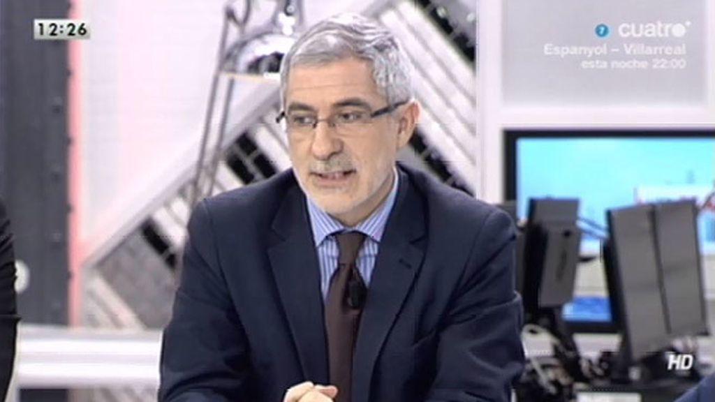 """Gaspar Llamazares: """"Parece que el señuelo del debate son los impuestos"""""""