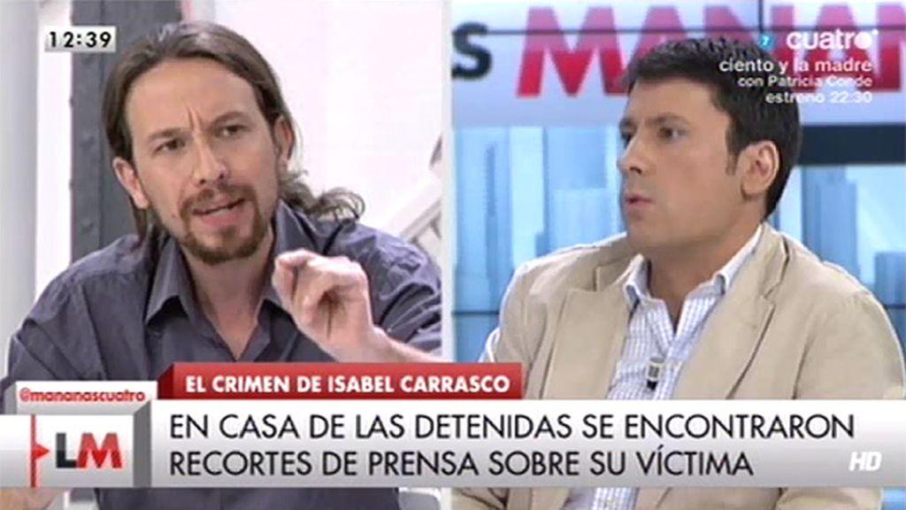 """P. Iglesias: """"La gente tiene la sensación de que no todas las vidas valen igual y eso provoca desafección política"""""""