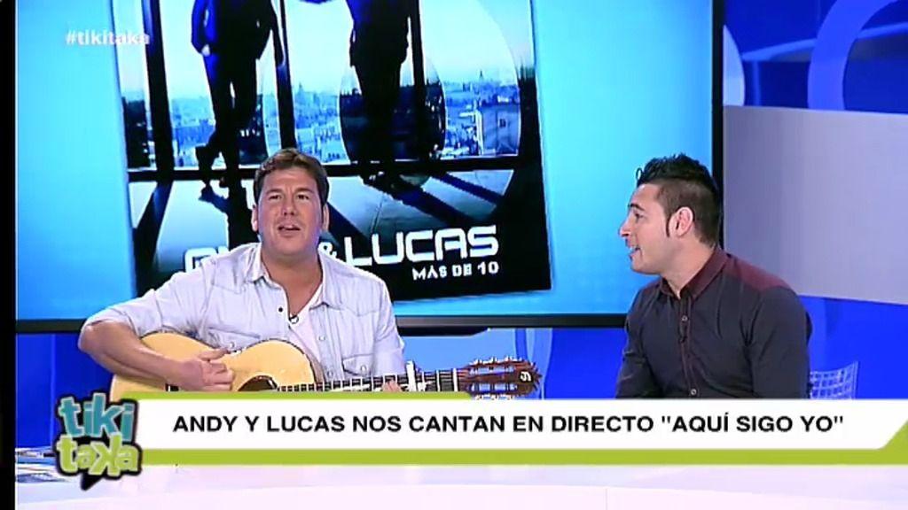 Andy y Lucas cantan en directo 'Aquí sigo yo' en el plató de Tiki Taka