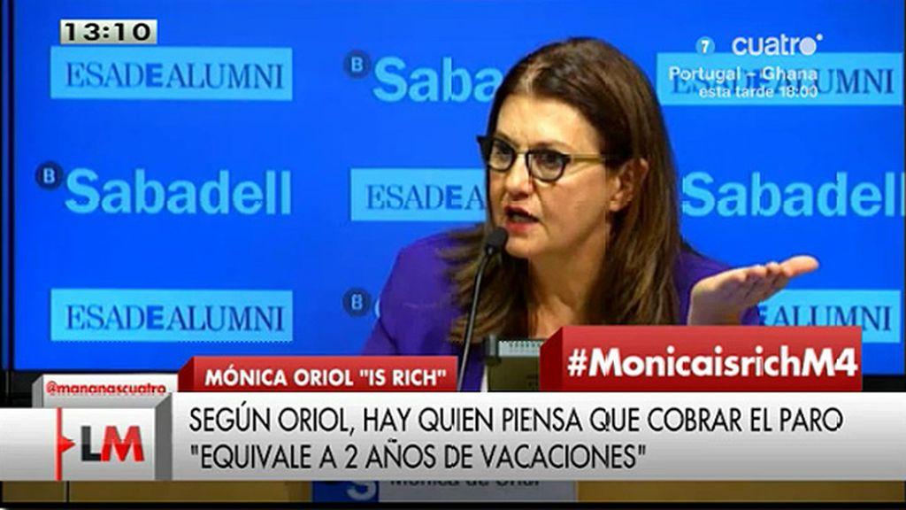 """Mónica de Oriol, sobre el nivel de inglés en España: """"Nos quedamos en 'my tailor is rich"""""""