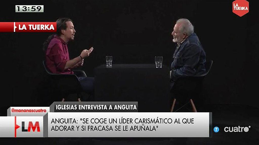 "Julio Anguita: ""En este país la Guardia Civil va a tener que esposar a mucha gente"""
