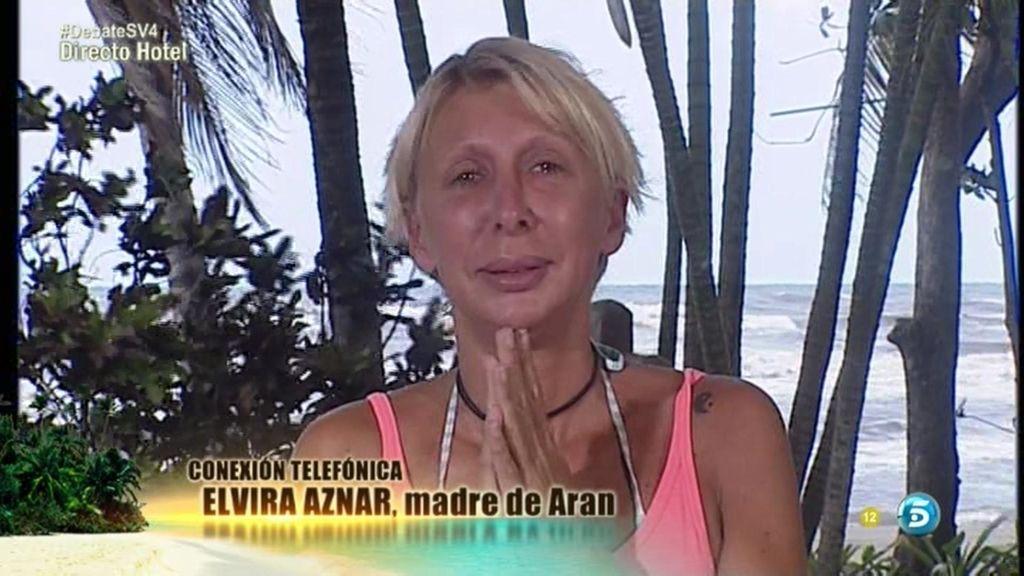 Aran Aznar se emociona al escuchar a su madre y sus hijas