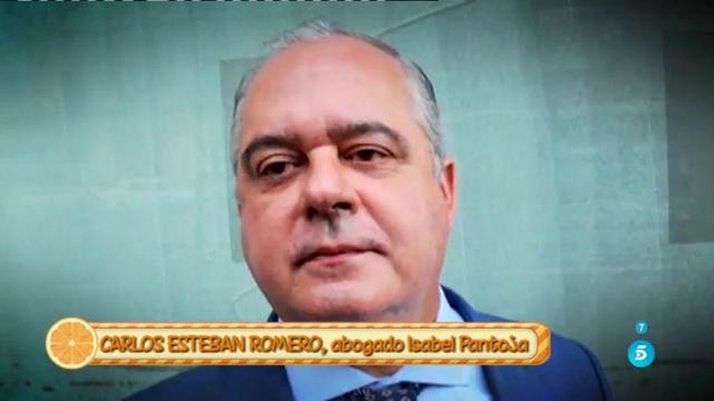 """Carlos Esteban Romero, sobre la petición del tercer grado de Pantoja: """"Ante el silencio administrativo, lo vamos a cursar por escrito"""""""