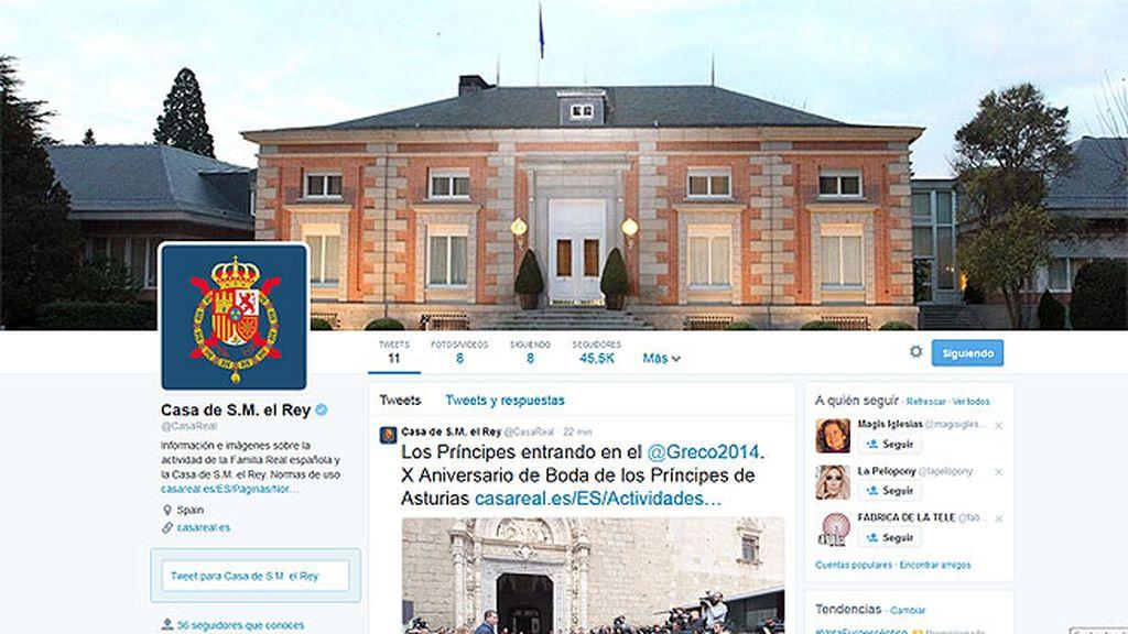 La Casa Real se estrena en twitter coincidiendo con el aniversario de los Príncipes