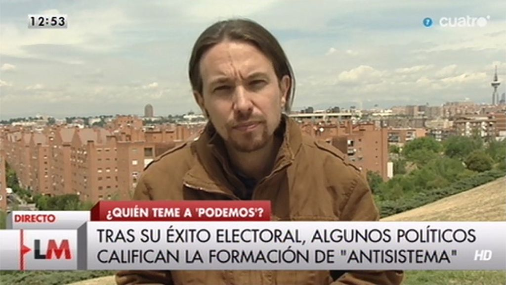 """Iglesias: """"La imagen del populismo es la de Cañete subido a un tractor"""""""
