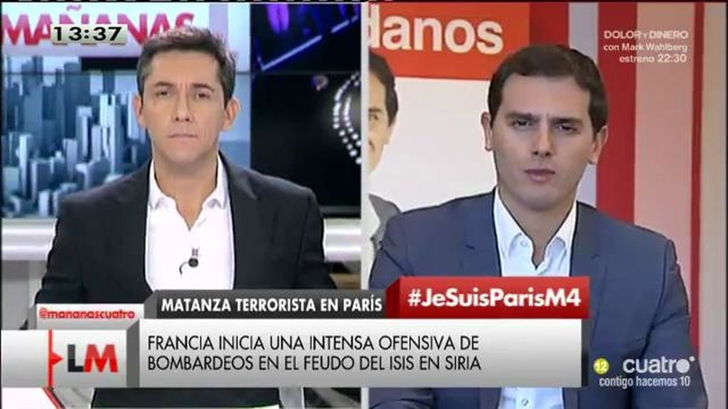 "Albert Rivera: ""Me gustaría que Podemos se sumara también al pacto antiyihadista"""