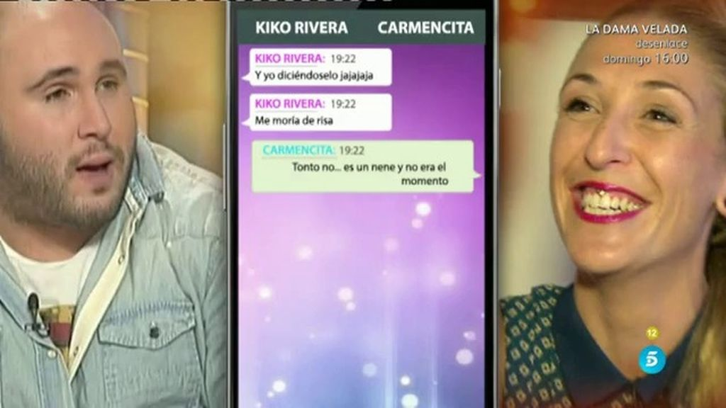 Así son los mensajes subidos de tono entre Kiko Rivera y Carmen