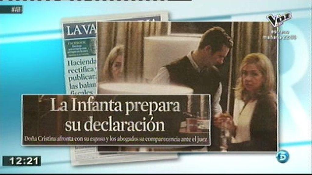 La Infanta Cristina se reúne con sus abogados en la fundación La Caixa