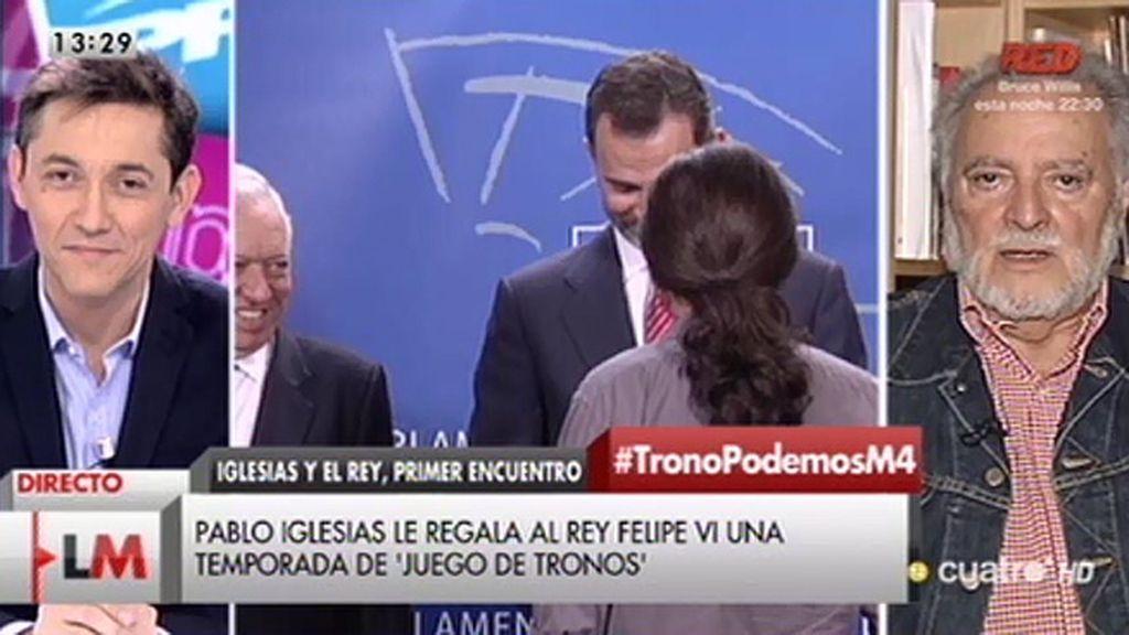 """Julio Anguita: """"La monarquía se ha cargado la Constitución Española"""""""
