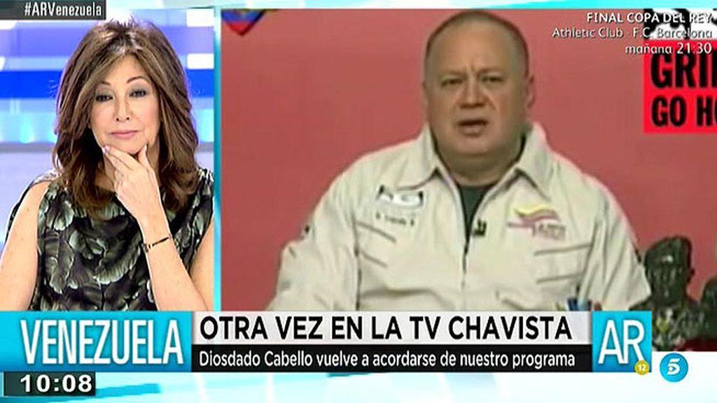 """Diosdado Cabello: """"Ana Rosa, pregúntate por qué el pueblo no apoyó a Rajoy"""""""