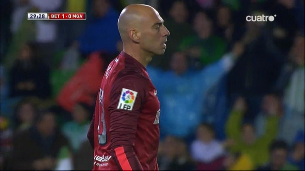 Gol de Lolo Reyes (Betis 1-0 Málaga)