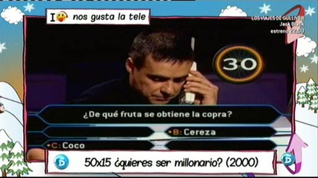 Usó el comodín de la llamada para decirle a su mujer que había ganado en 50x15