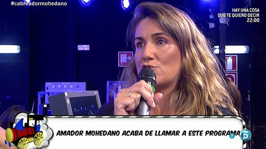 "Carlota Corredera, a Amador: ""Me has maldecido, pero no te tengo miedo"""