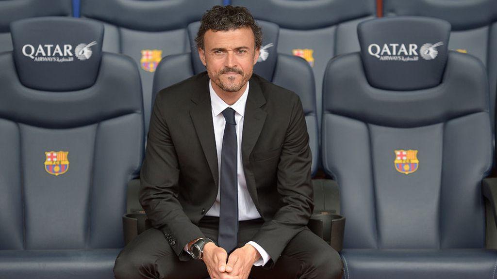 Luis Enrique trabaja y hace trabajar a todos desde el banquillo del Barça