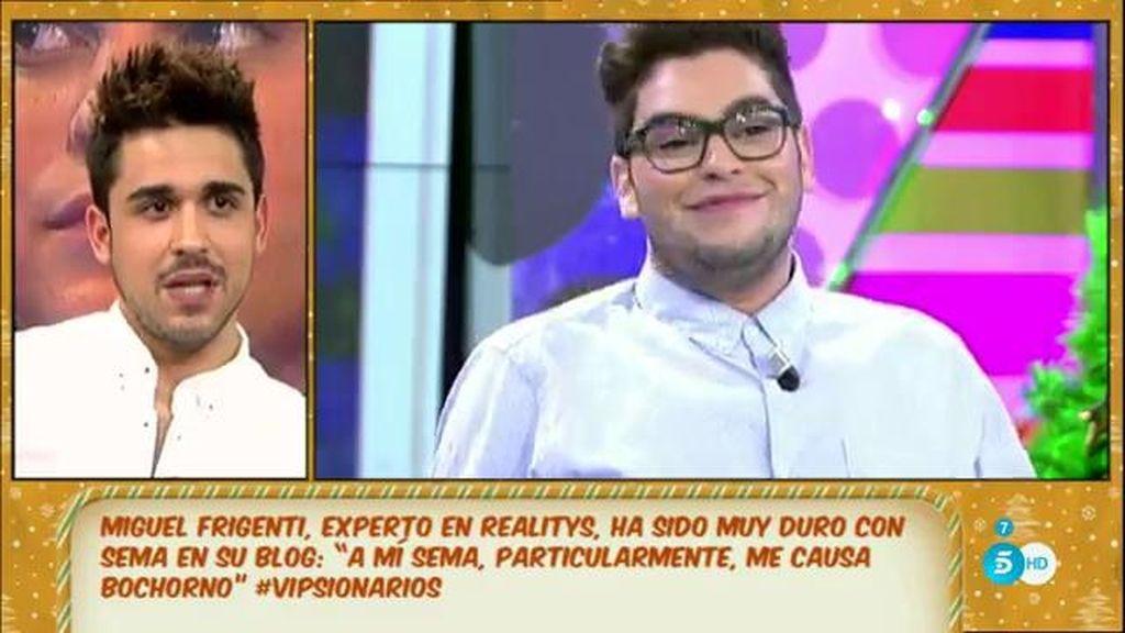 """Miguel Frigenti, a Sema: """"Que sea él mismo, que hable mejor y que no sea tan vago"""""""